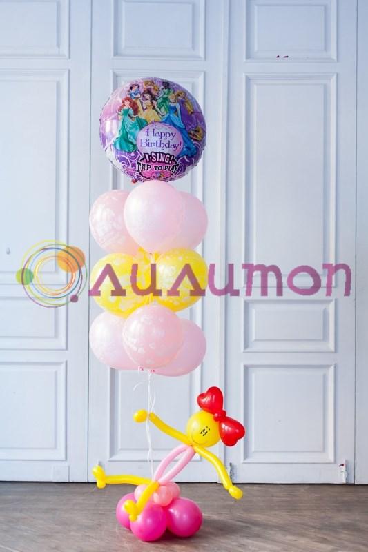 Поздравление шарами, праздничные шары, буквы из шаров 79