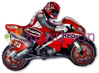 Фольгированный шар 'Мотоцикл' красный