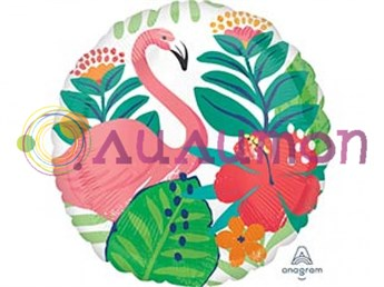 Фольгированный шар 'Фламинго' круг