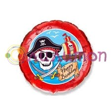Фольгированный шар 'Пират' круг