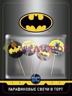 Свечи Бэтмен, 4 см, 4 шт.