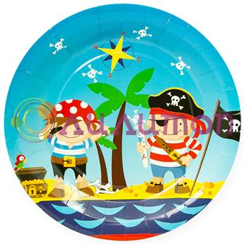 Тарелки «Пираты» 6 шт. - фото 10139