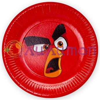 Тарелки 'Angry birds', 6 шт