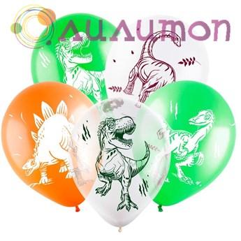 Облако из шаров 'С Днем Рождения 'Динозавры''