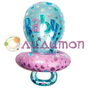 Фольгированный шар фигура 'Соска' голубая