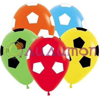 Облако из воздушных шаров 'Футбол ассорти'