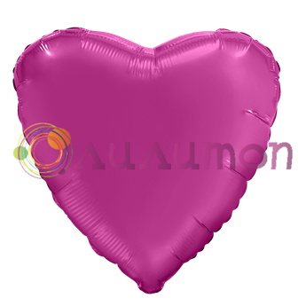 Фольгированное сердце 'мистик' гранатовое 40см