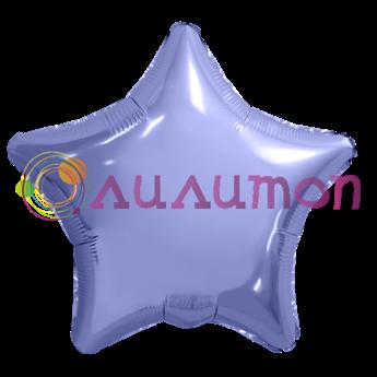 Фольгированный шар 'Большая звезда, пастельный фиолетовый' 65см