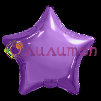 Фольгированная звезда, Пурпурный 40см - фото 10257