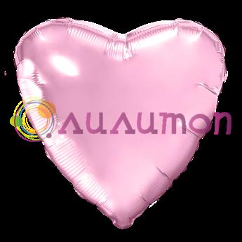 Фольгированное сердце, Розовое 40 см