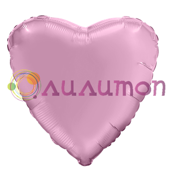 Фольгированное сердце 'мистик' фламинго 40см