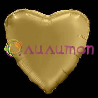 Фольгированное сердце 'мистик' золото 40см