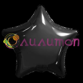 Фольгированный шар 'Звезда BLACK' 40см