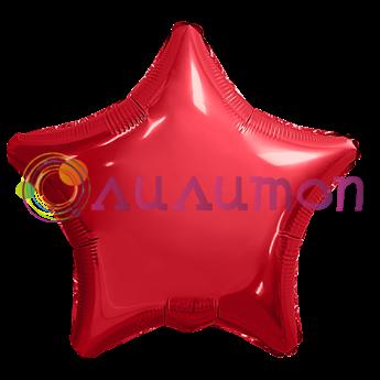 Фольгированный шар 'Красная звезда' 40см