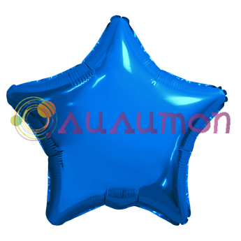 Фольгированный шар 'Синяя звезда' 40см