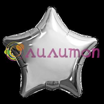 Фольгированный шар 'Серебряная звезда' 40см