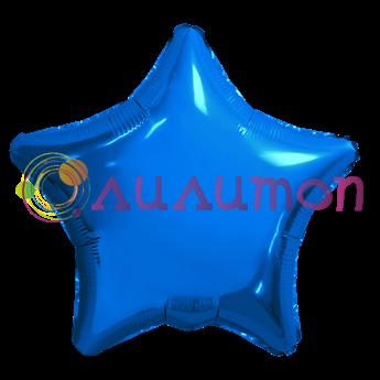 Фольгированный шар 'Большая синяя звезда' 65см