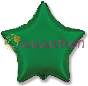 Фольгированный шар 'Большая зелёная звезда' 65см