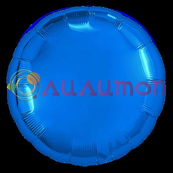 Фольгированный шар 'Синий круг'  65 см