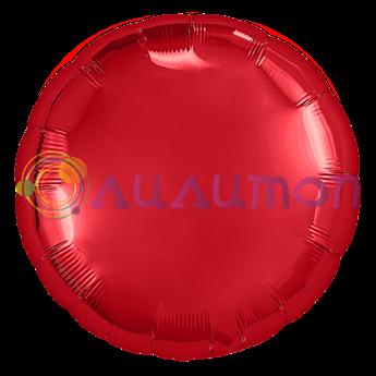 Фольгированный шар 'Красный круг'  65 см