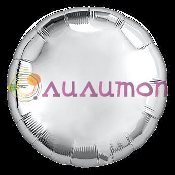 Фольгированный шар 'Серебряный круг' 40 см
