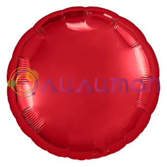 Фольгированный шар ' Красный круг' 40 см