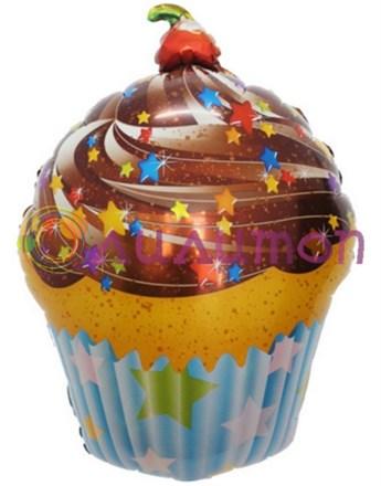 Фольгированный шар 'Шоколадный кекс'