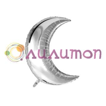 Фольгированный шар МЕСЯЦ Металлик Silver - фото 10423