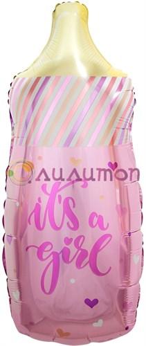 Фольгированный шар 'Бутылочка для малышки'