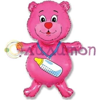 Фольгированный шар 'Медвежонок-девочка'