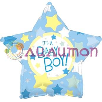 Фольгированный шар 'С рождением мальчика'