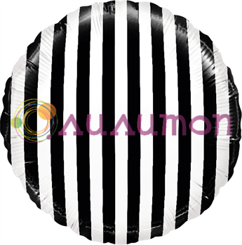 'Белые полоски. Черный круг' 40 см
