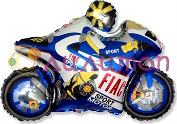 Фольгированный шар 'Мотоцикл' синий