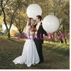 Большой белый шар 80 см - фото 3992