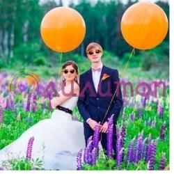 Большой оранжевый шар 80 см - фото 3993
