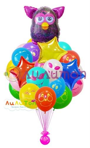 Букет из воздушных шаров 'Фёрби девочка'