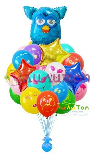 """Букет из воздушных шаров  """"Фёрби мальчик"""" - фото 4017"""