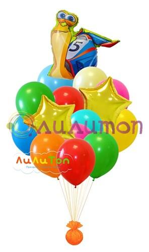 Букет из воздушных шаров 'Улитка Турбо'