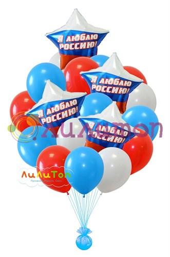 Букет из воздушных шаров 'Я люблю Россию!'