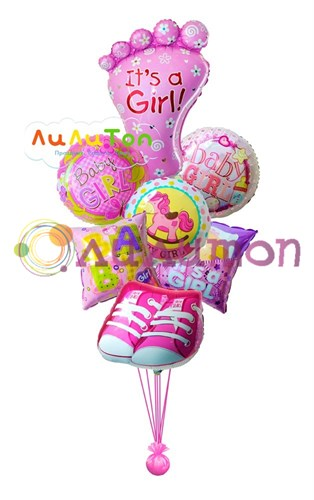 Букет из воздушных шаров  'Для малышки'