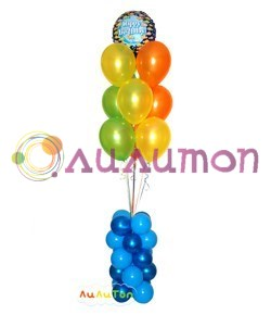 Букет из воздушных шаров  'Веселый риф'