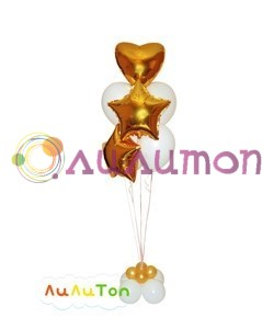 Букет из воздушных шаров  'Золотой'