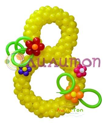 Цифра с цветами - фото 4156