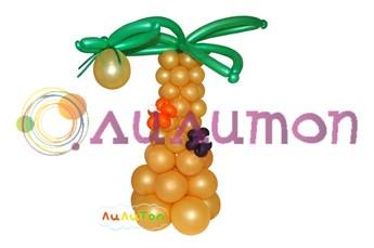 Пальма из шаров - фото 4176