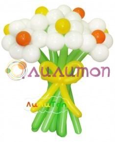 Цветы из шаров 'Солнечный лучик'