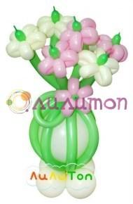 """Цветы из шаров """"Комплимент"""" - фото 4209"""