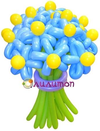 Цветы из шаров 'Лазурное небо'