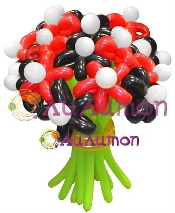 Цветы из шаров 'Божья коровка'