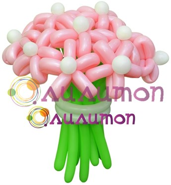Цветы из шаров 'Малинка'