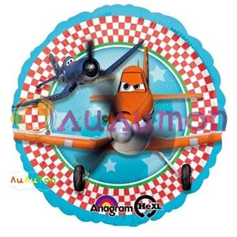 """Фольгированный шар """"Самолёты"""" - фото 4323"""